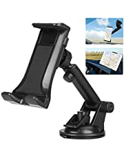 """Phone Holder for Car, 2 in 1 Car Tablet Mount, Windshield Cell Phone Car Holder Stand for GPS/Samsung Galaxy/iPad Pro/Air, iPad/iPad Mini/iPhone (4""""- 12"""")"""