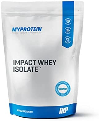 Myprotein Impact Whey Isolate Protein Powder, Gluten Free Protein Powder, Muscle Mass Protein Powder, Dietary Supplement for Weight Loss, Whey Protein Powder, Chocolate Brownie, 2.2 Lbs