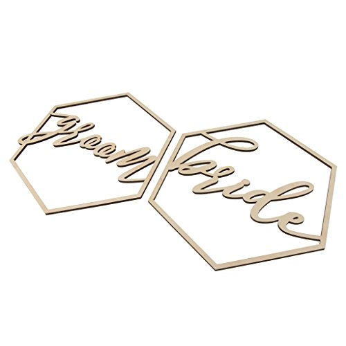 SM SunniMix Bride and Groom Chair Signs Wedding Chair Hanger Wall Hanging Decoration -