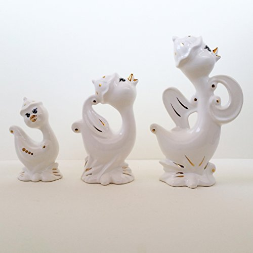 Swan Ceramic Decoration red and White - 5