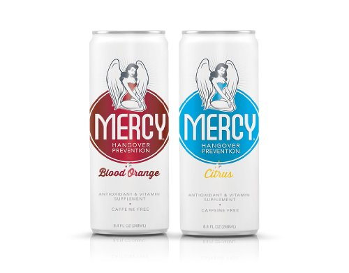 Antioxidant Shot (Mercy Hangover Prevention Drink 'Party Pack', Citrus & Blood Orange Flavor, 8.4 oz (48 Pack))