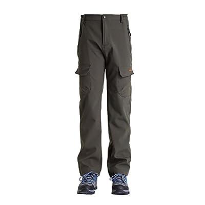 Men's Snow Pants, Clothin Outdoor Fleece Thicken Windproof Cargo Ski Pants