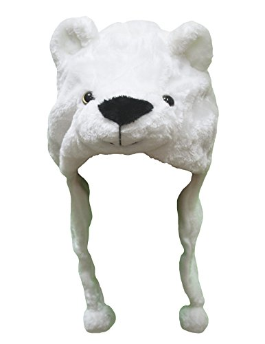 Christmas Wear White Polar Bear Warm Hat Polyester Unisex Children Costume -