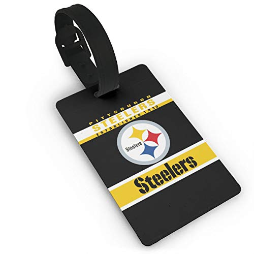 - MamaTina Custom Luggage Tag Pittsburgh Steelers Suitcase Labels ID Tags Business Card Holder Set for Bags & Baggage