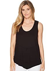 Lilla P Womens Rib Bottom Tank Top