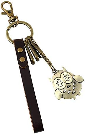 K235 Alloy Giraffe Vintage Braided Leather Key Fastener Pendant