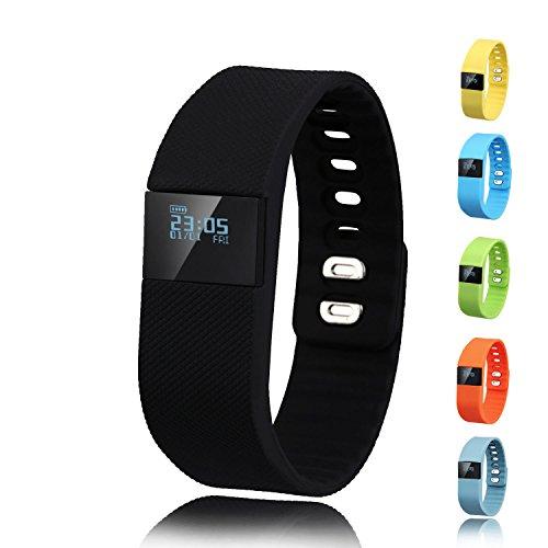 Activity Tracker,Gajozon Fitness Tracker Smart Watch Smart Band Wireless Bluetooth Sleep Monitor Wristband Running Pedometer Exercise for Android 4.3 IOS 7.0 (Black)
