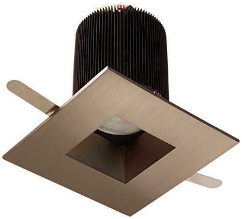 WAC Lighting HR-2LED-T709F-27BN Tesla – LED 2-Inch Open Square Trim, 45-Degree Beam Angle, 2700K For Sale