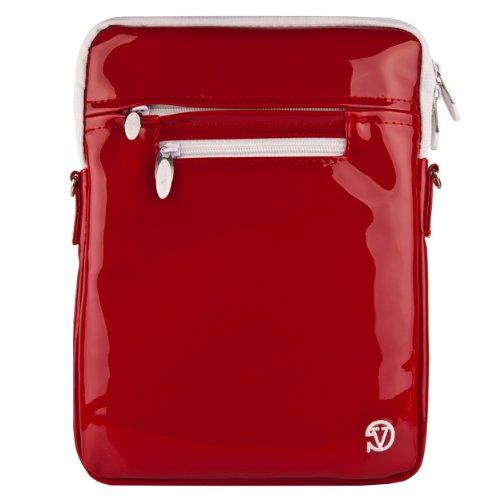 VanGoddy Hydei Crossbody Shoulder Bag for Quantum View 10.1-inch Windows Tablet (Blazing Red)