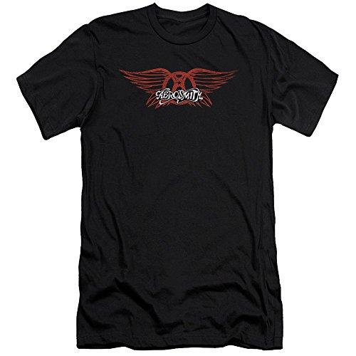 Aerosmith Hommes T nera Slim shirt Winged Logo 5w5UrI