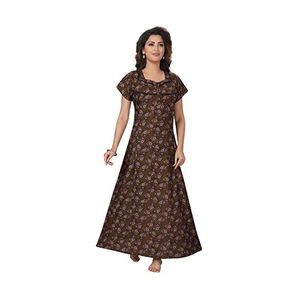 Best Maternity Nursing Long Nightgown With Zipper Online India