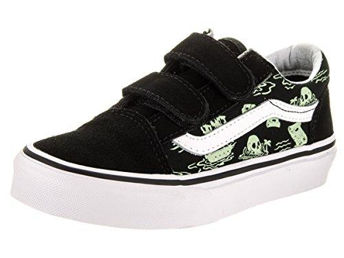 Vans Kids Old Skool V (Glow Pirate) Black/True Skate Shoe 11.5 Kids US for $<!--$46.90-->