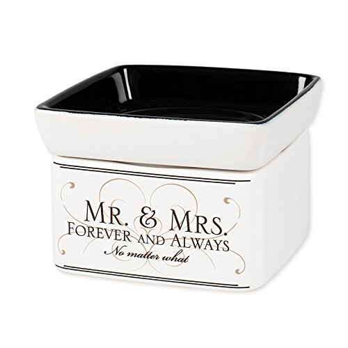 Mr & Mrs Forever and Always Electric 2 in 1 Jar Candle Wax Tart Oil (Electric Tart Burner Soy Candle)