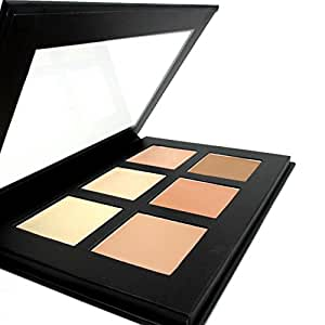 CCbeauty Contour Cream Kit Highlighter Makeup Contour Palette- Highly Pigment- 6 Light Colors