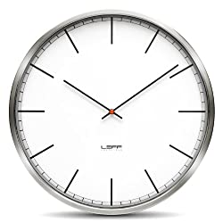 wall clock one45 stainless steel white index
