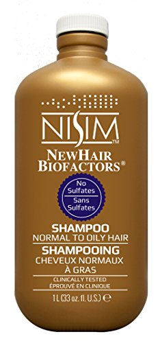 NISIM NewHair BioFactors Shampoo for Normal To Oily Hair - Deep Cleaning Shampoo That Controls Excessive Hair Loss (33 Ounce / 1000 Milliliter)