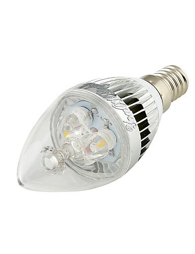 HJLHYL MND Bombillas Vela Decorativa YouOKLight C35 E14 3 W 3 LED de Alta Potencia 280 LM Blanco C¨¢lido / Blanco Fresco AC 85-265 V 2 piezas, ...