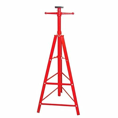 TimmyHouse Auto Shop Steel Under Hoist Mount Tripod Stand 2 Ton Heavy Duty Red Adjustment