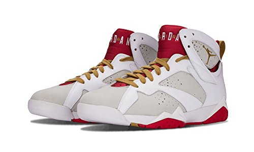 Jordan Air Jordan 7 Retro Yotr Anno Del Coniglio Moda Uomo Sneakers Bianco Argento / Metallizzato Oro-rosso 459873-005