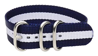 Clockwork Synergy - 3 Ring Heavy NATO Brushed Steel Watch Strap Bands