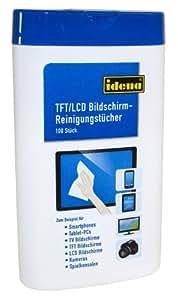 Idena 190081 - Toallitas limpiadoras para pantallas TFT y LCD (100 unidades)