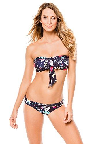 Seafolly Women's Flower Festival Halter Bandeau Bikini Top, Indigo, 8