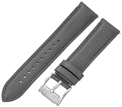 Fossil Men's S221281 Estate Gunmetal Leather 22mm Watch Strap
