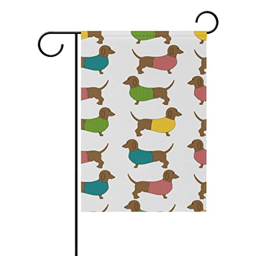 Hopes's Cute Dachshund Dog Garden Flag Polyester Outdoor for sale  Delivered anywhere in USA