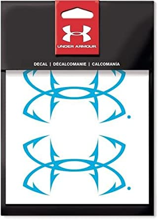 Under Armour Fish Hook Logo Decal White 6