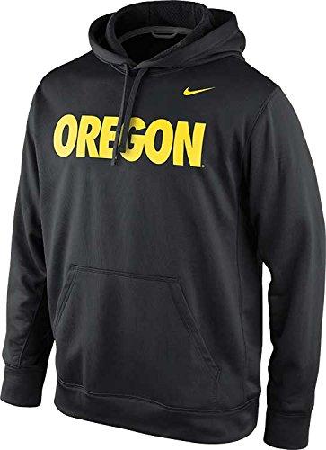 Nike University Oregon (Nike Oregon Ducks Men's KO State Name Pullover Performance Therma-Fit Hoodie (Medium, Black))
