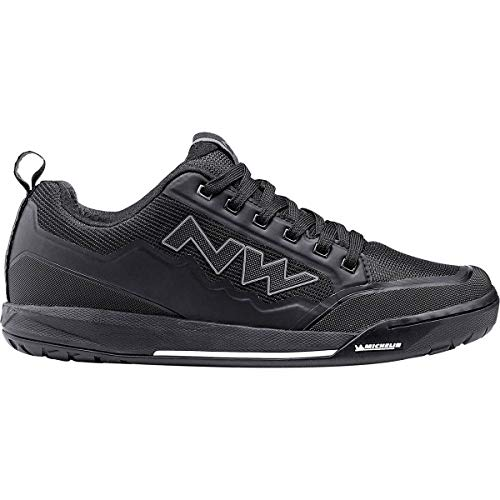 Northwave bike cycling flat pedal shoes male clan color black - 41