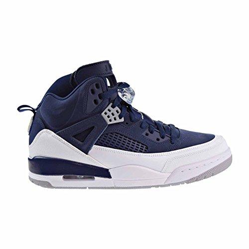 Jordan Nike Men's Spizike Midnight Navy/Metallic Silver Basketball Shoe 10 Men US