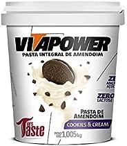 Pasta de Amendoim Sabores Gourmet (1,005Kg) - Sabor Cookies and Cream, Vita Power