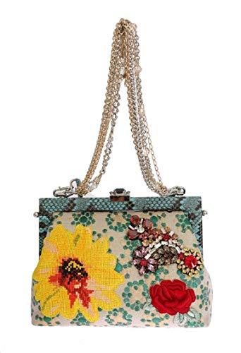 Dolce & Gabbana Yellow Floral Lace Short Mini Shift Dress Yellow IT44-Large