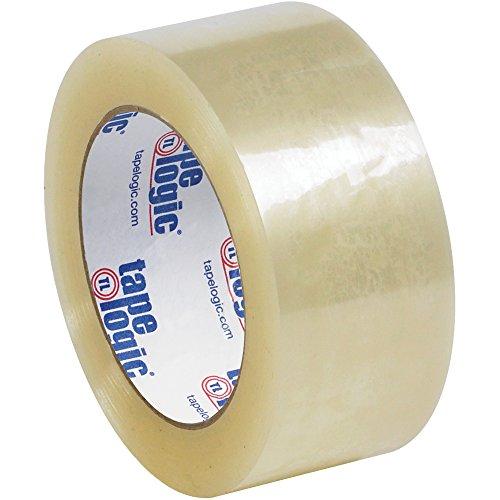 Boxes Fast Tape Logic #122 Quiet Carton Sealing Tape, 2.0 Mil, 2