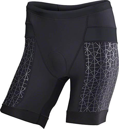 TYR Competitor 7in Tri Short - Men's Black/Black, M (Triathlon Shorts)