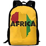 OIlXKV Africa Print Custom Casual School Bag Backpack Multipurpose Travel Daypack For Adult