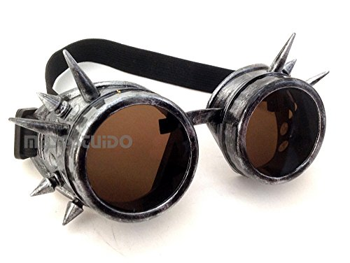 Spike Steampunk Goggles Victorian Welding Cyber Punk Gothic Costume Cosplay Glasses Goggles (Mad Max Halloween)