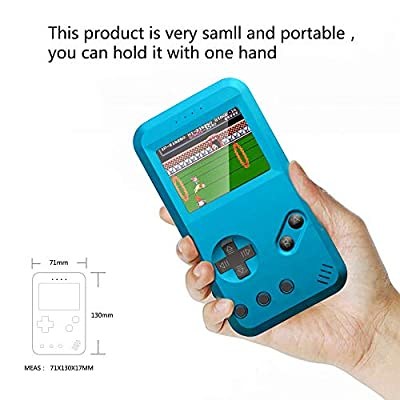 xinguo Handheld Game Console, Portable Game Console 2.5 Inch Screen with 299 Classic Games, Retro Game Console Can Play on TV, Good Gifts for Children. (Blue): Toys & Games