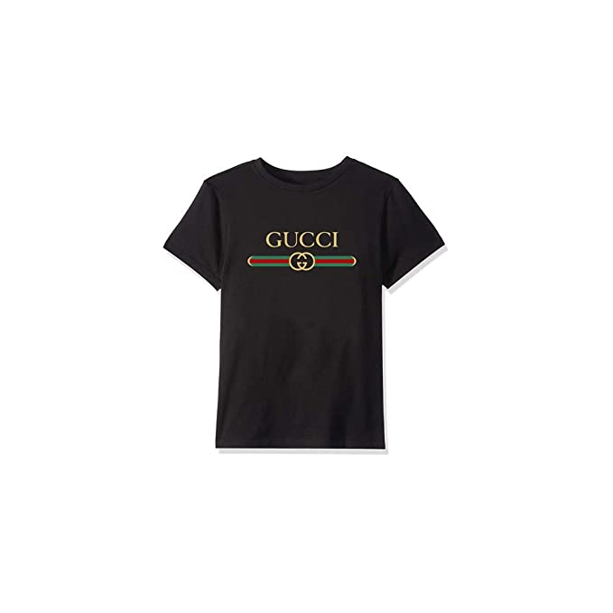 075bb48f Amazon.com: Unisex Toddler Kids Boys/Girls Gucci Logo - Gucci T ...