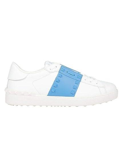 Valentino Hombre RY2S0931LTUJN8 Blanco Cuero Zapatillas: Amazon.es: Zapatos y complementos