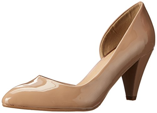 Cone Heel (CL by Chinese Laundry Women's Angelina Pump, New Nude Patent,  7.5 M US)