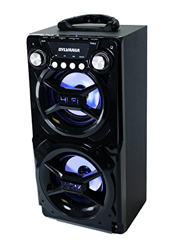 Sylvania SP328-Black Portable Bluetooth Speaker