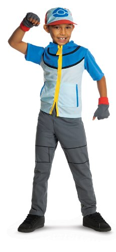 [Pokemon Child's Deluxe Ash Costume - One Color - Medium] (Ash Pokemon Halloween Costume)