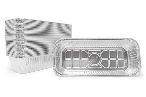 Fig & Leaf (420 Pack) Weber Grills Compatible 6417 Drip Pans l Size 11'' x 5'' x 2.5'' l Aluminum Foil l 44 Gauge l Fit Genesis II LX 400 600 Series All-Purpose Summit 400 600 Gold Platinum Gas Grill by Fig & Leaf (Image #5)