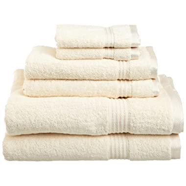 Superior Egyptian Cotton 6-Piece Towel Set, Ivory