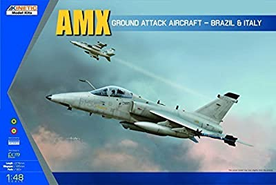 Kinetic Model Kits 1/48 AMX Ground Attack Aircraft - Brazil & Italy K48026 by Kinetic
