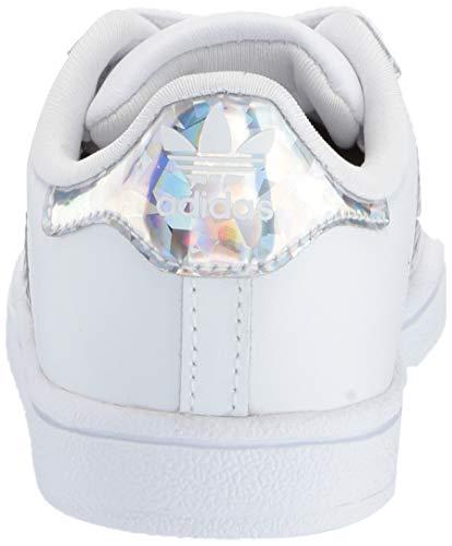 adidas Originals Unisex Superstar Running Shoe, White/White/White, 1 M US Little Kid by adidas Originals (Image #2)