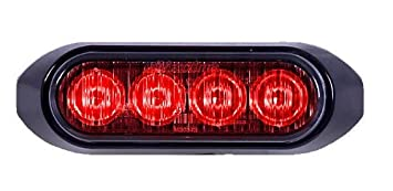 41SrmgJPoPL._SX355_ amazon com maxxima m20373rcl red 4 led warning strobe light with maxxima strobe lights wiring diagram at soozxer.org