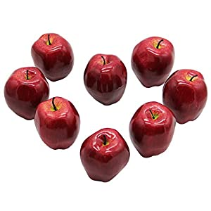 YOFIT Artificial Apple Fake Fruit for Home Kitchen Decoration,8 Pack 2